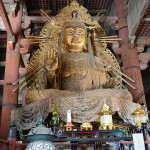 This Buddha was seated to the left of the Great Buddha (Daibutsu) in the Todai-ji Temple in the city of Nara.
