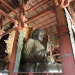 The Great Buddha Hall houses the world's largest bronze statue of the Buddha Vairocana, known in Japanese simply as Daibutsu. (Nara)