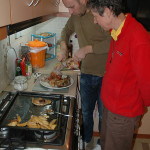 Then they cooked a delicious Cretan meal for us in their tidy apartment.