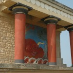 The restored North Entrance of Knossos with the charging bull fresco was very impressive.