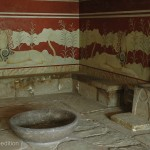 The throne in Knossos' Throne Room looked pretty uncomfortable!