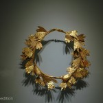 Gold was always a favorite for special decorative apparel and the Minoan gold smiths were masters.