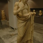 This marble statue of a philosopher may be late 2nd century AD. (Roman era)
