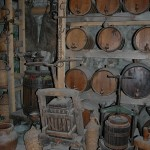In the History and Folklore Museum beneath the old refectory, displays of wine and olive presses gave us an interesting impression of just how totally self-sufficient the life of a monk was.