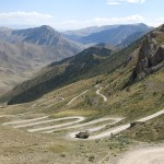 We could imagine caravans and yaks climbing over this pass.