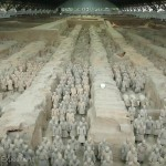 The famous armies of the Terra Cotta warriors in Xian, China were astounding. Each life-size statue was an individual man.
