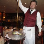 With a flair for showmanship our waiter spun the salad in a bowl of ice while gracefully pouring the house dressing.