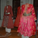 A silk ensemble like this one in the Soufli old Silk Museum may use the silk from many thousand cocoons.