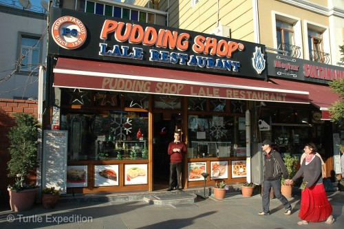 A famous stepping-stone from Europe to Asia, the Pudding Shop has seen a long stream of overland travelers headed east and returning with tales of adventure.