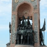 The Republic Monument was unveiled in 1928 to honor the leaders of the struggle for independence and the formation of the Turkish Republic in 1923.