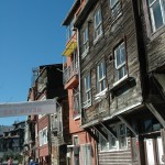 Many of the old wooden buildings on side streets reflected the personality of this historic city.