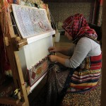 This woman was busy weaving a beautiful carpet. We guessed it could take years to finish, one thread at a time.