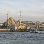 The majestic New Mosque is perhaps best seen from a cruise ship on the Golden Horn.