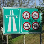 International road signs were easy to understand.
