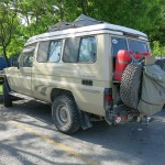 Fellow overland travelers arrived in a variety of vehicles.
