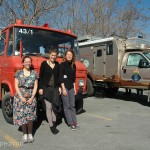 These three girls from Germany were on their first adventure in this old fire truck.