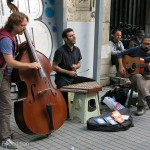 Talented street musicians were always a treat.