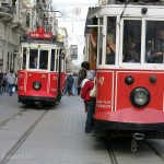 These cute hop-on hop-off trolley cars were a fun way to get around.