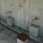 All mosques have a washing area for worshippers before they enter to pray.