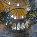Now under restoration, the profusion of windows was an interesting element of Aya Sophia's Byzantine architecture.