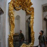 This gilded mirror was at the entrance to the Harem.