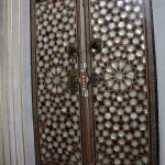 The doors to this cupboard were a great example of the intricate inlay of mother of pearl.