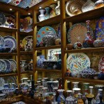 The Grand Bazaar is famous for beautiful hand painted pottery.