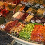 Along with spices, some of the stores sold dried fruit like dates, oranges, papaya and mango, etc.