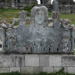 A bust of Cybele, the mother goddess of Anatolia, sits quietly outside the Temple of Zeus.