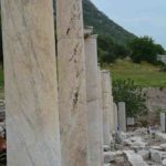 Surviving columns were beautifully carved out of solid marble.