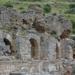 The ruins of the bath of Varius were built of cut blocks of marble. The three sections were frigidarium (cold water), tepidarium (warm water) and caldarium (hot water). The excavations have not been completed yet.
