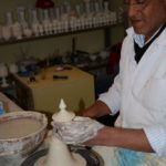 Each piece at Ephesus Ceramic Production Center was hand thrown on a wheel.