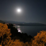 We were treated to a full moon glistening over the calm waters of the Mediterranean.