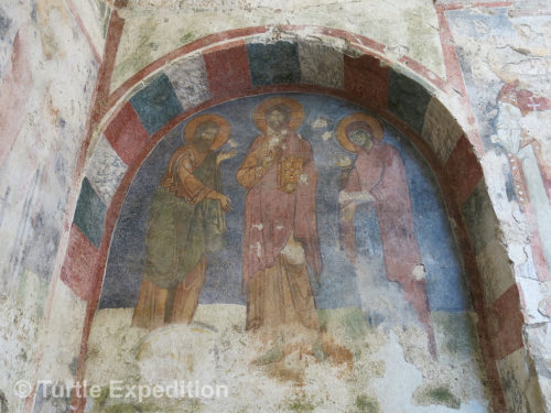The frescos surviving 800 years in alluvial silt were astounding.