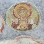 The most important restoration was commissioned in the 11th century by emperor Constantine IXth Monomachus and his wife, Empress Zoe. Their pictures were incorporated in this frescoed wall.