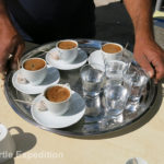 After a busy shopping trip, there's nothing like a good cup of real Turkish coffee, hand brewed to your order.