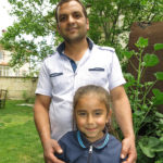 Yunus Açıkbaş, the right-hand man of Köse Pension and his daughter asked for a souvenir photo.