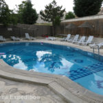 The pool at Köse Pension in Göreme was inviting but it was still too early in the season to take a dip.