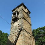 This monastery tower looked like a hermit's nest.