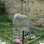 We think this simple stone marked the site of Ste. Nino's original church.