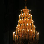 This pretty chandelier was   located above the main altar.