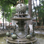 This pretty fountain was the focal point of the Round Garden popular with people of all ages.