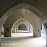 There were many graceful archways leading to interior rooms and storage areas.