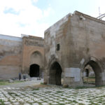 Typical of larger caravanserais, there was a small mosque or place of worship in the center of the main courtyard.