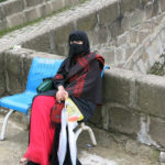 Coming from the hot Saudia Arabian desert, this lady must be enjoying the green valley and cool air of Uzungöl.