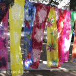These colorful silk scarves were interwoven with wool.