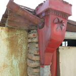 Many of the homemade rain gutters were little works of art.