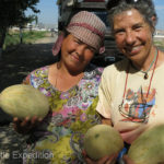 This region was famous for its melons and there were plenty of roadside stands to tempt us. Everyone welcomed us.