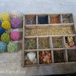 The unique Uzbek Khan-Atlas silk is famous for its beautiful natural dyes and brilliant colors.