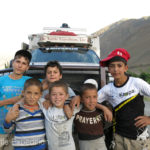 Local kids are always fascinated by our truck.